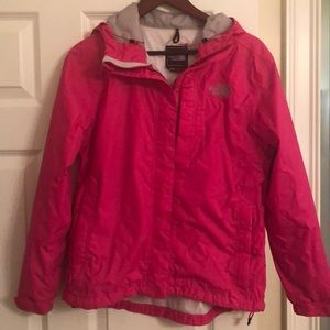 North Face women's pink rain jacket. Size M